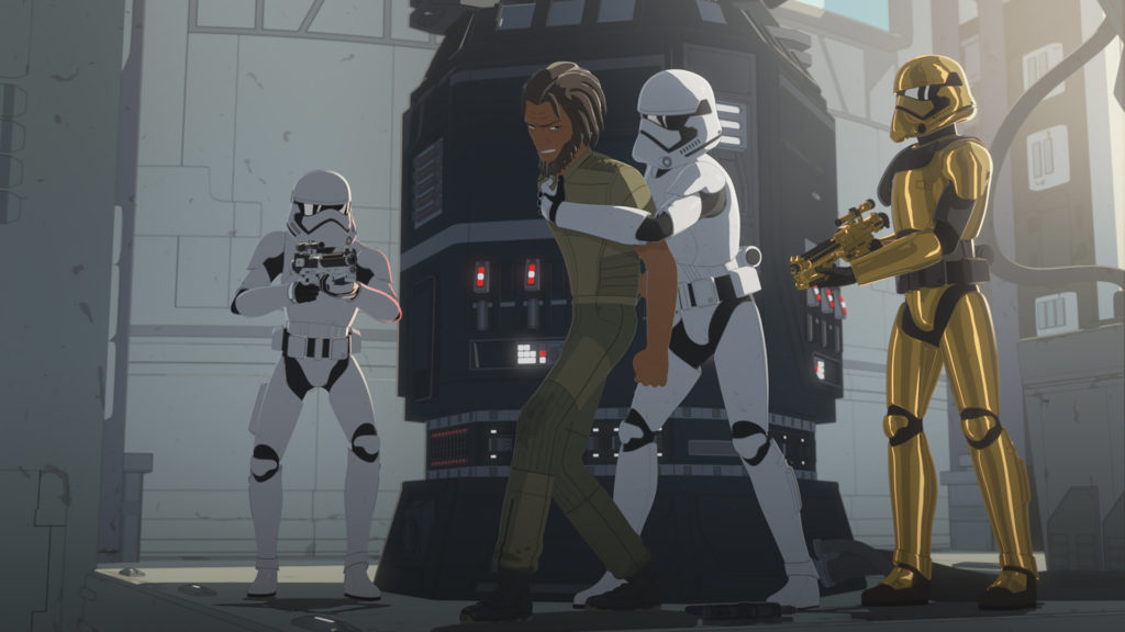 Yeager is captures by stormtroopers in Star Wars Resistance.