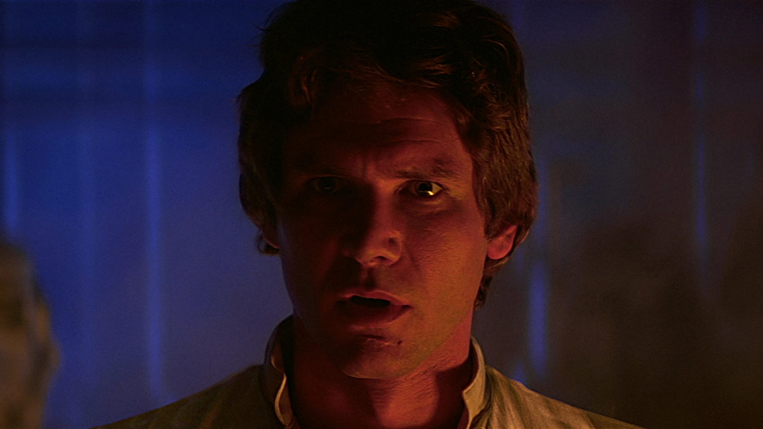 Han Solo in the carbon freeze chamber in Star Wars: The Empire Strikes Back.