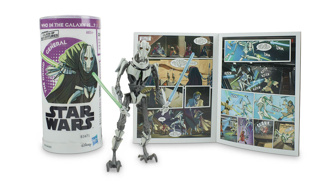 A General Grievous action figure, part of Hasbro's next wave of Star Wars Galaxy of Adventures figures.