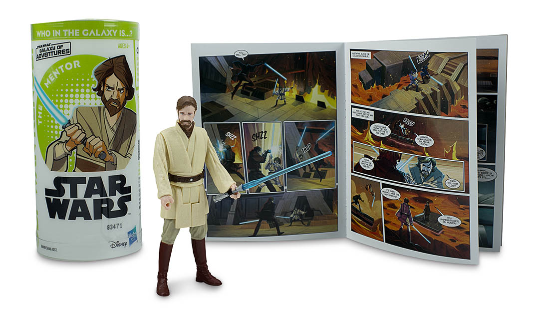 An Obi-Wan Kenobi action figure, part of Hasbro's next wave of Star Wars Galaxy of Adventures figures.