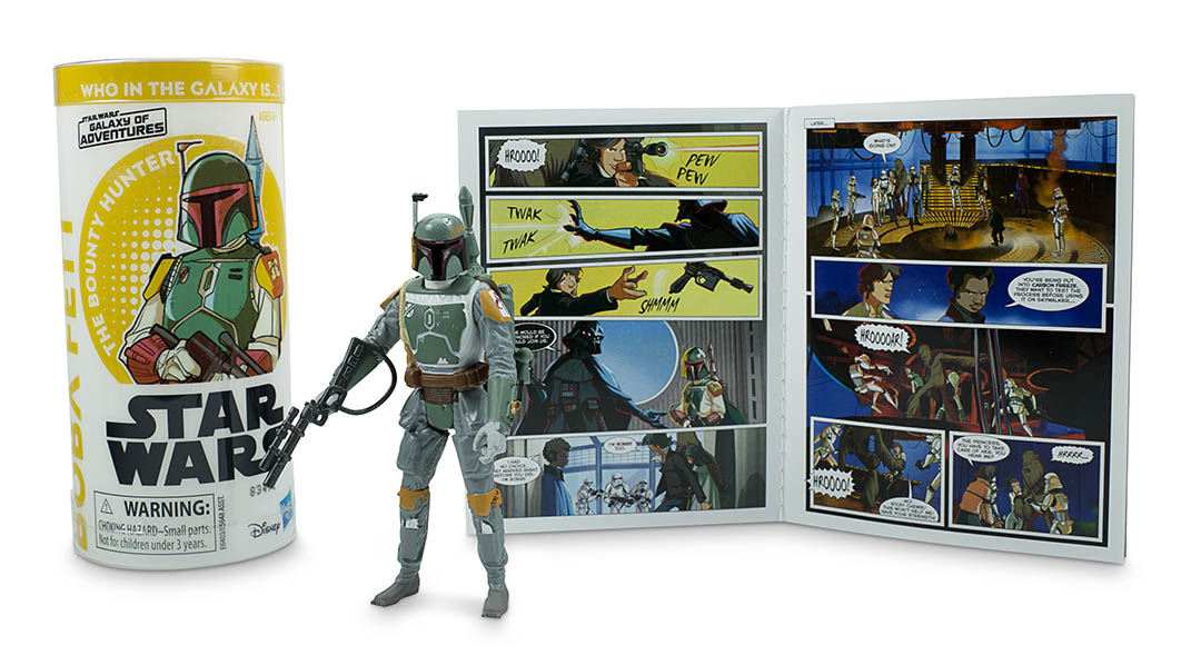 A Boba Fett action figure, part of Hasbro's next wave of Star Wars Galaxy of Adventures figures.