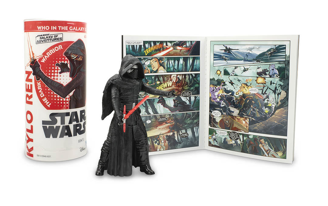 A Kylo Ren action figure, part of Hasbro's next wave of Star Wars Galaxy of Adventures figures.