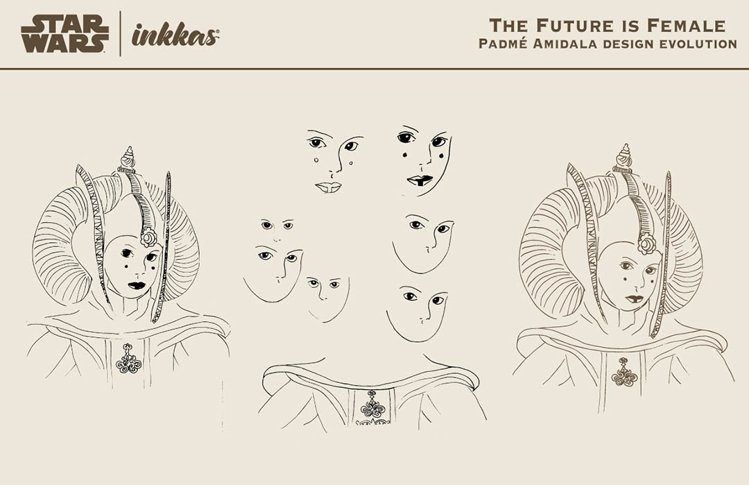"Inkkas designer Christine Lynn Johansen shares some sketches from her ""Future is Female"" print."