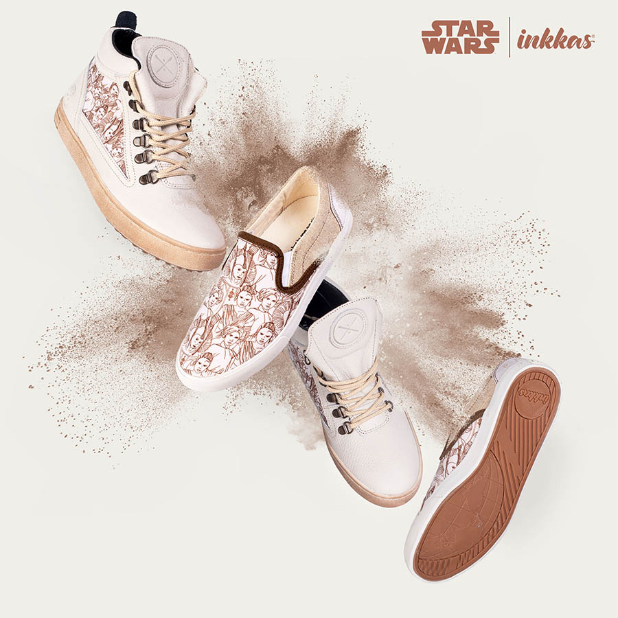 A lifestyle image of Inkkas Future is Female shoes, part of the Rebel Collection.
