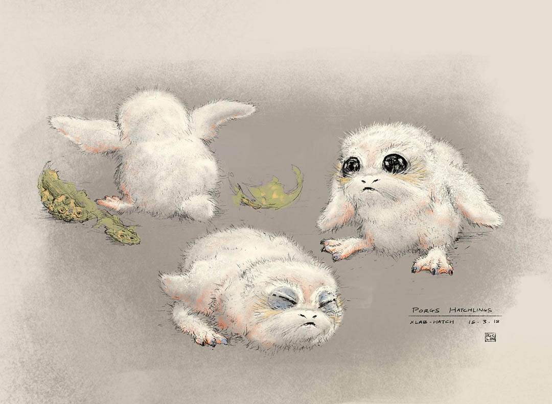Porg concept art from Star Wars: Project Porg by ILMxLAB.