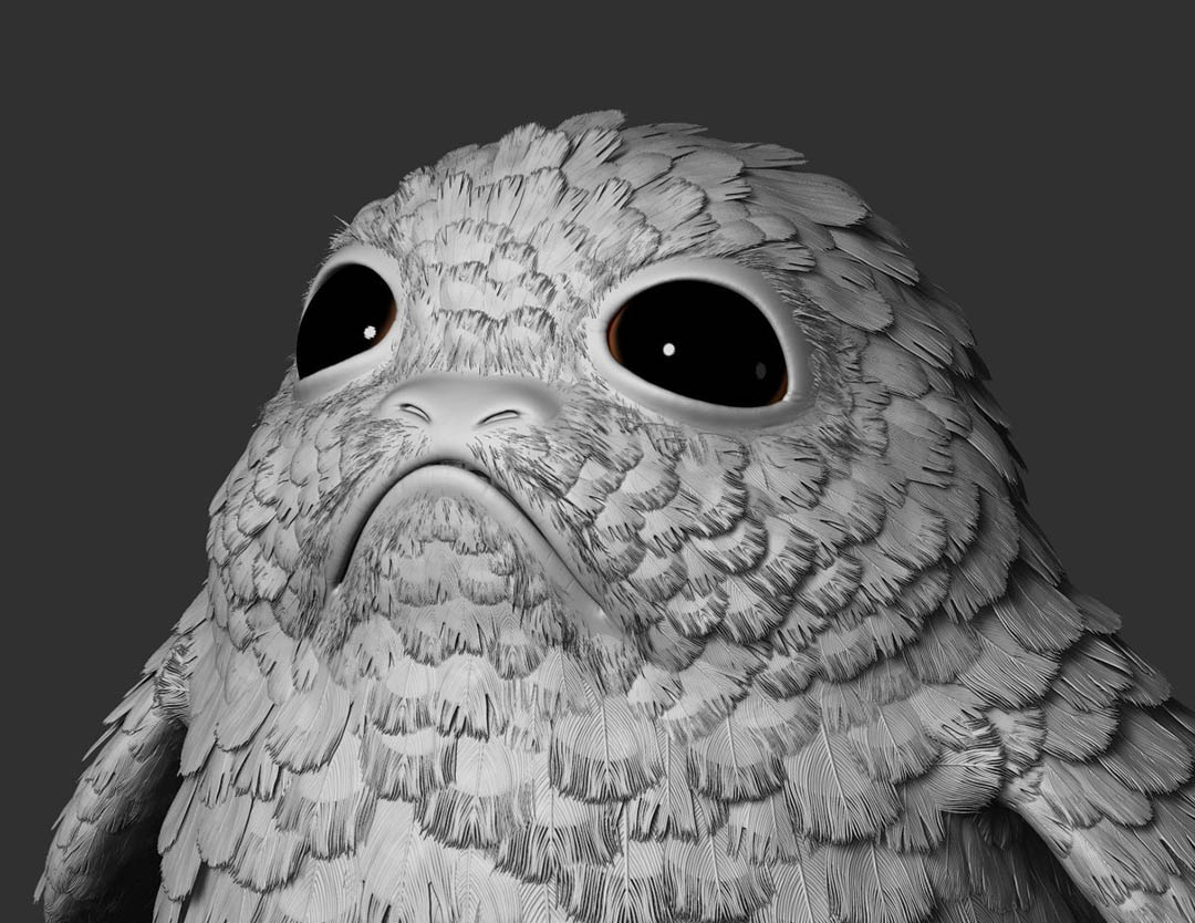 A porg from Star Wars: Project Porg by ILMxLAB.