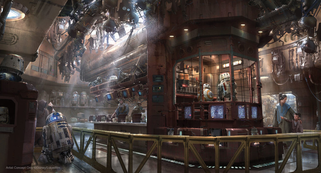Concept art of the Droid Depot. (Disney Parks)