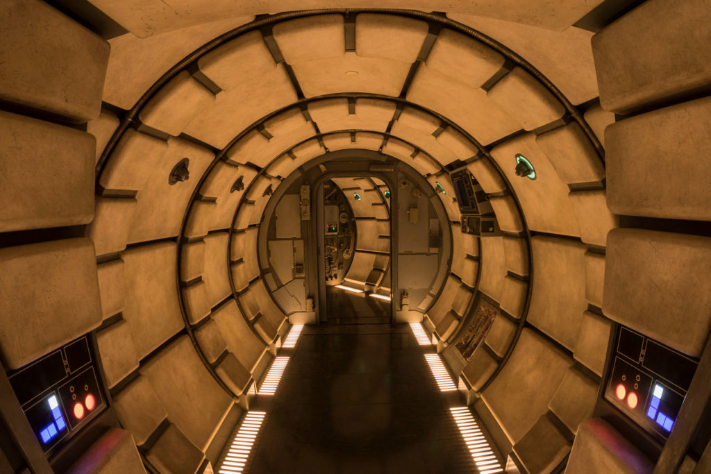 The Millennium Falcon interior from Star Wars: Galaxy's Edge.