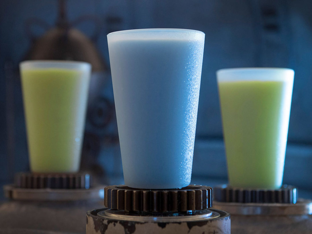Blue Milk and Green Milk can be found in the Black Spire Outpost market inside Star Wars: Galaxy's Edge. (David Roark/Disney Parks)