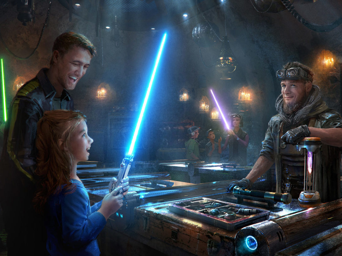 Concept art of Savi's Workshop at Star Wars: Galaxy's Edge.