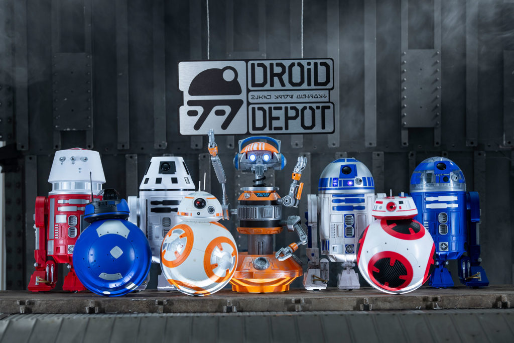 Guests can visit the Droid Depot to build their own R-series or BB-series droids that will act as a friend throughout the village of Black Spire Outpost. Star Wars: Galaxy's Edge opens in summer 2019 at Disneyland Resort in California and fall 2019 at Walt Disney World Resort in Florida. (David Roark/Disney Parks)