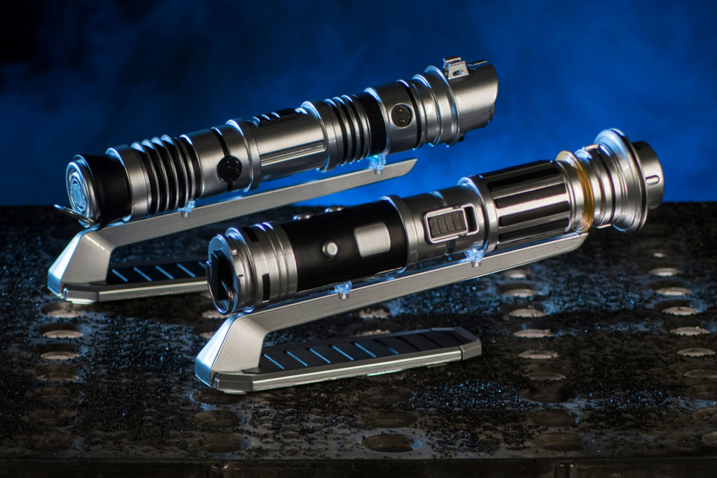 Custom lightsabers from Savi's Workshop. (David Roark/Disney Parks)