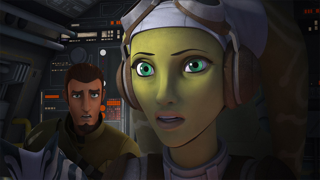 "Hera and Kanan in the ""Siege of Lothal."""