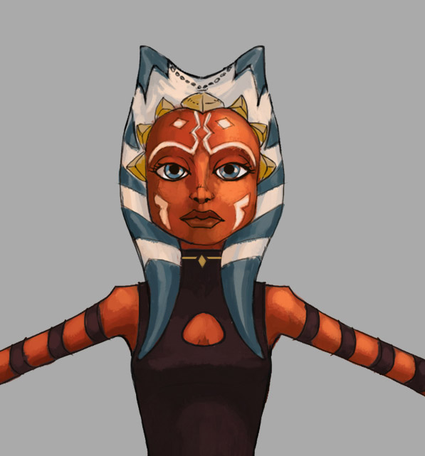 Animation concept art of Ahsoka.
