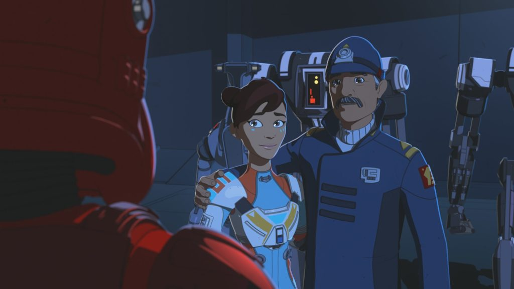 Captain Doza with daughter Torra in Star Wars Resistance.
