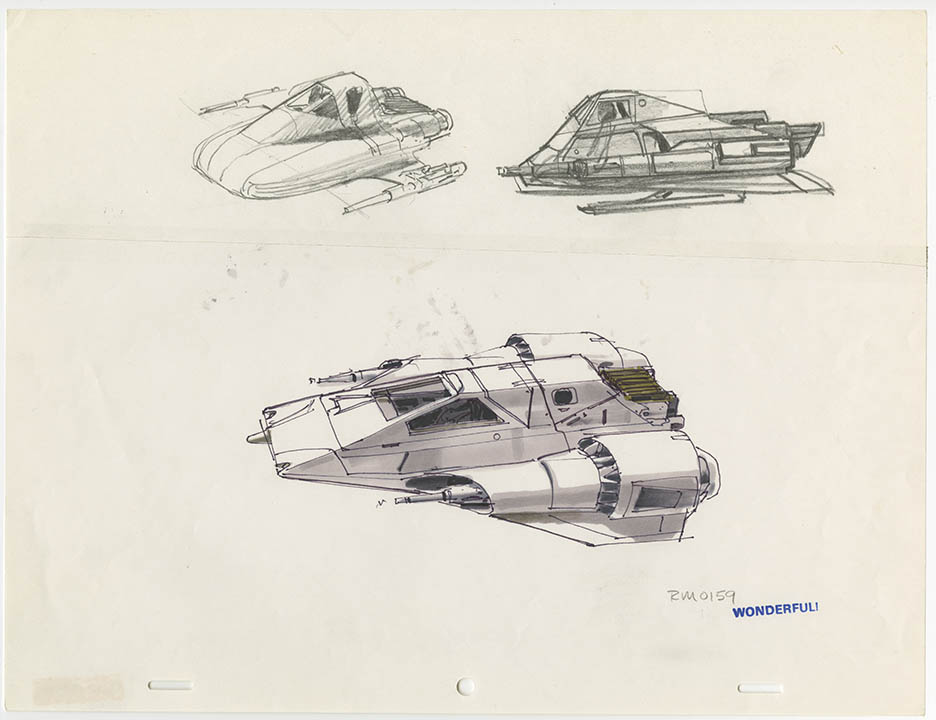 Concept art used to inspire Star Wars Resistance.
