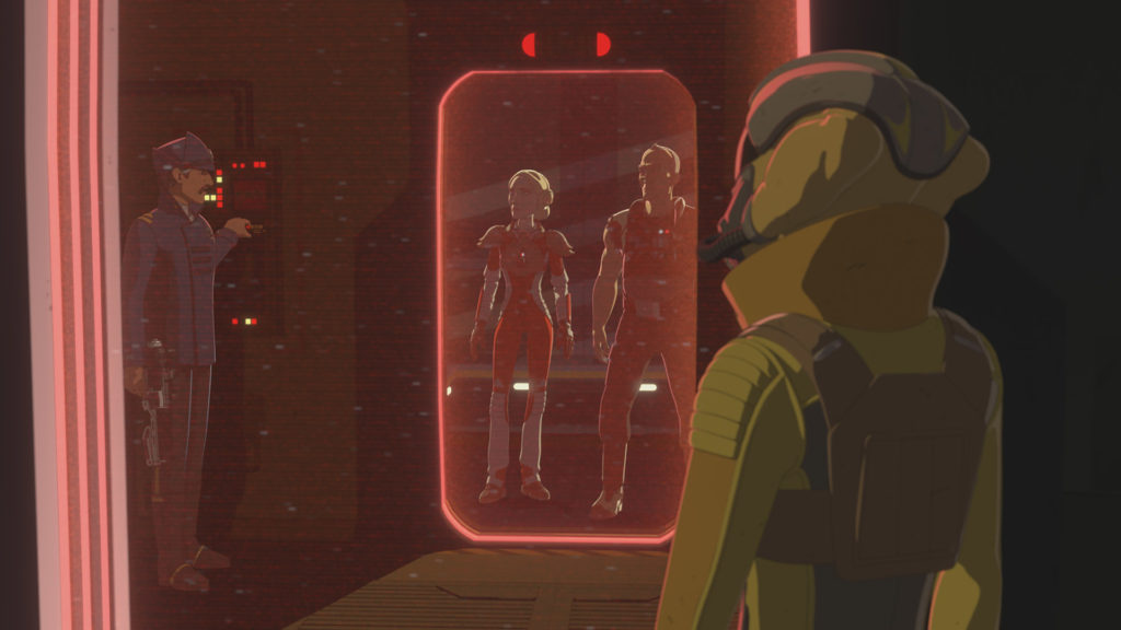 CAptain Doza frees the Aces in Star Wars Resistance.