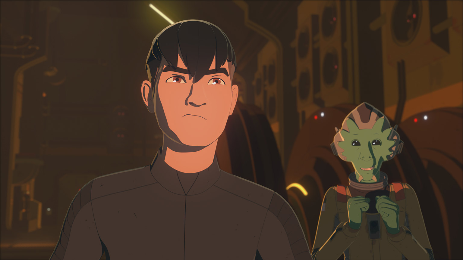 Kaz and Neeku in Star Wars Resistance.