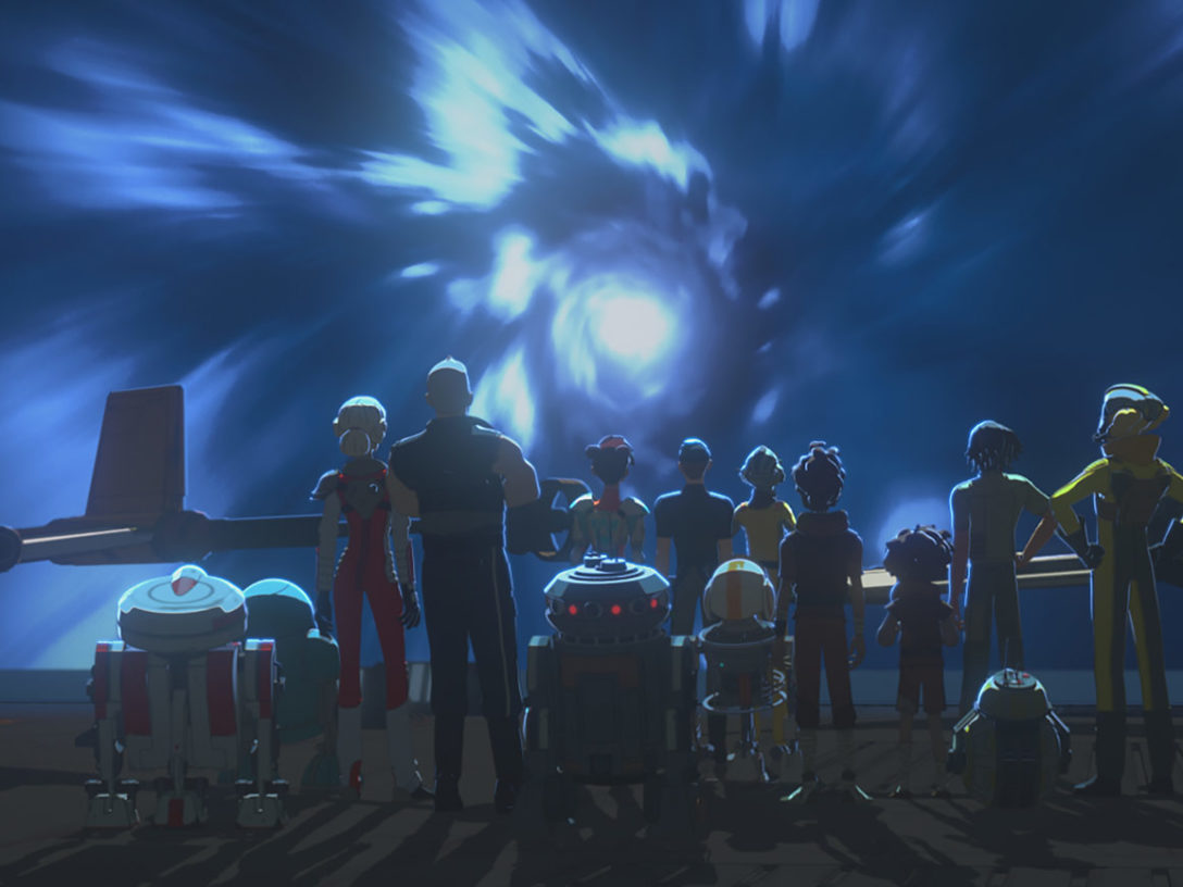 Team Fireball and friends on the Colossus in Star Wars Resistance.