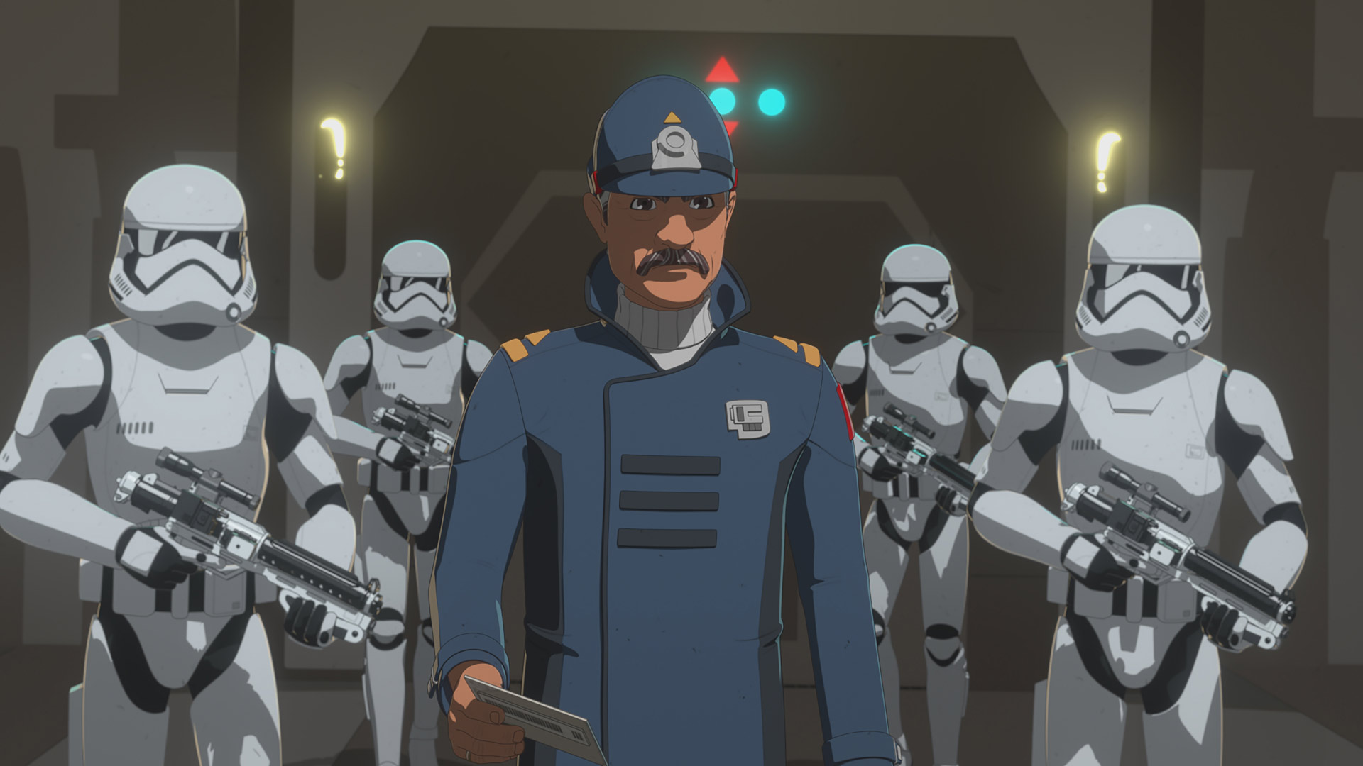Captain Doza meets with Commander Pyre in Star Wars Resistance.