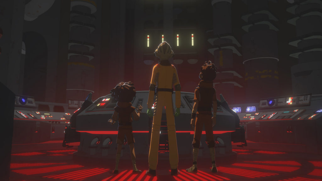 The hyperdrive room of the Colossus in Star Wars Resistance.