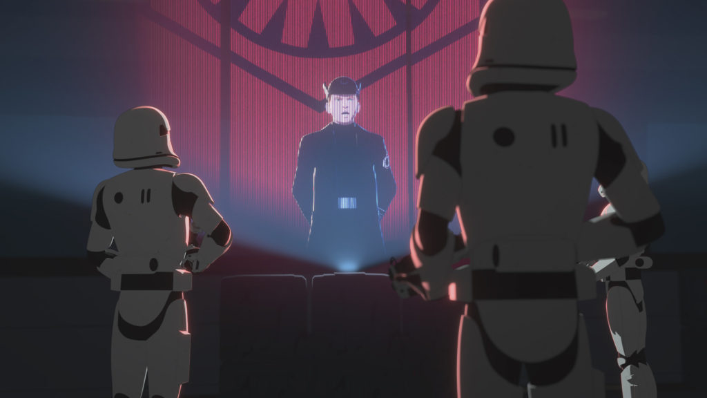 General Hux delivers a fiery speech in Star Wars Resistance.