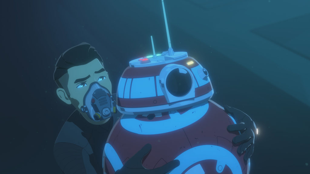 Kaz and CB-23 swim in Star Wars Resistance.