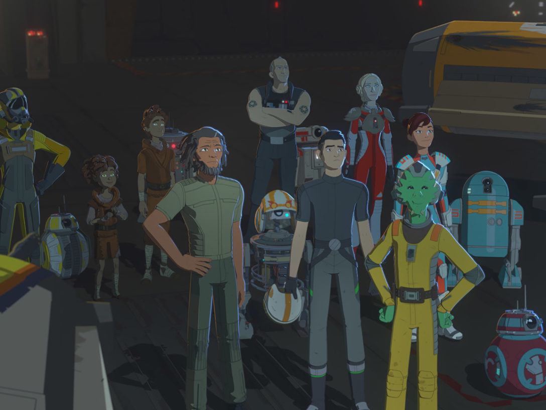 Team Fireball and friends in Star Wars Resistance.