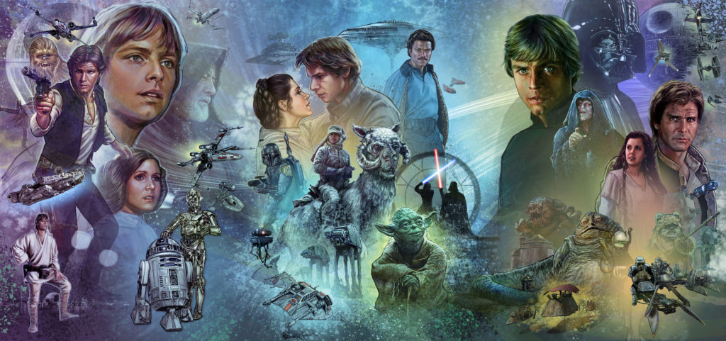 The original trilogy section of the Star Wars Celebration Chicago mural.