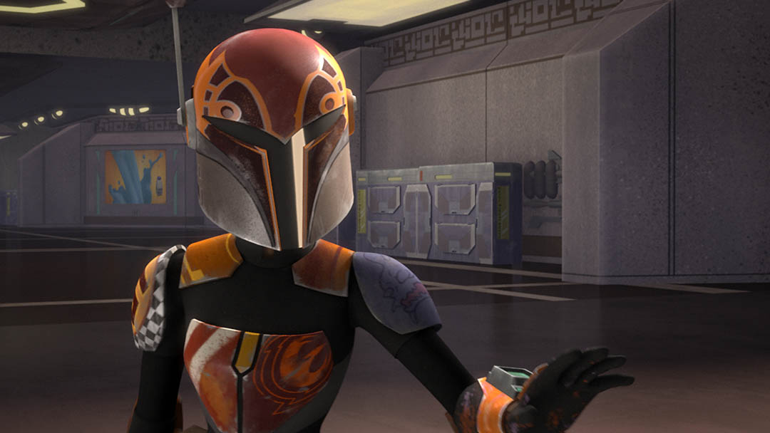 Sabine Wren on Star Wars Rebels.