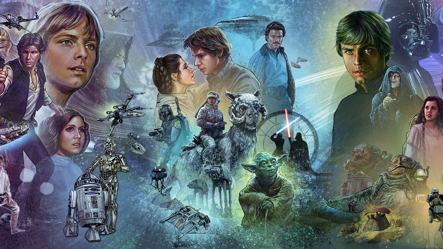 Original trilogy section of the Star Wars Celebration 2019 Mural