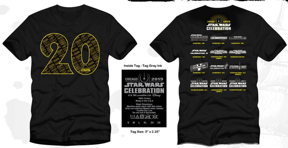 Star Wars Road to Celebration 2019 Chicago Exclusive T-Shirt