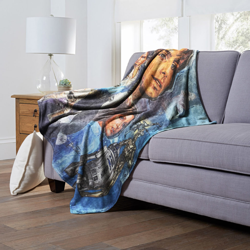 Northwest Star Wars Celebration Chicago blanket featuring art depicting Star Wars: A New Hope.