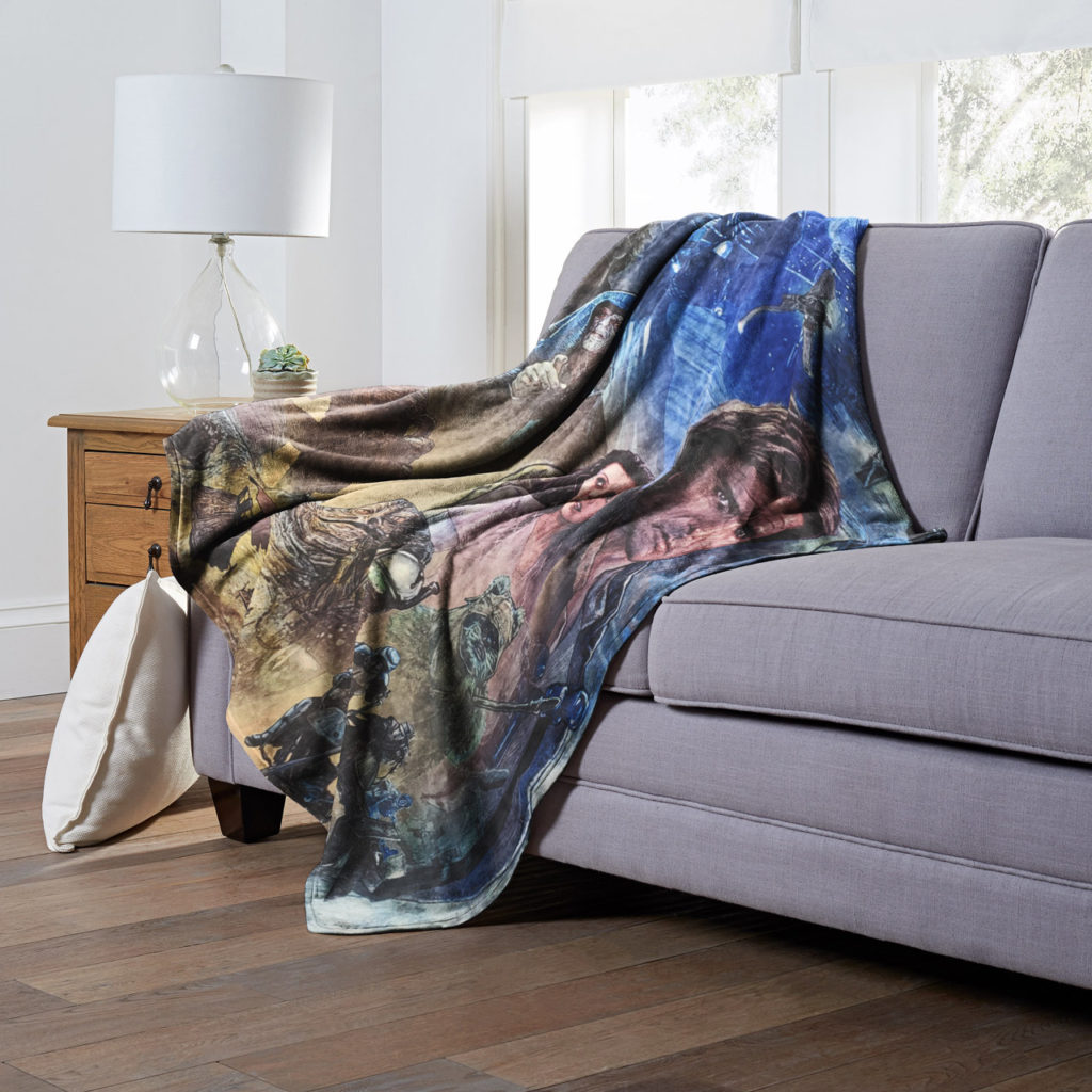 Northwest Star Wars Celebration Chicago blanket featuring art depicting Star Wars: Return of the Jedi.