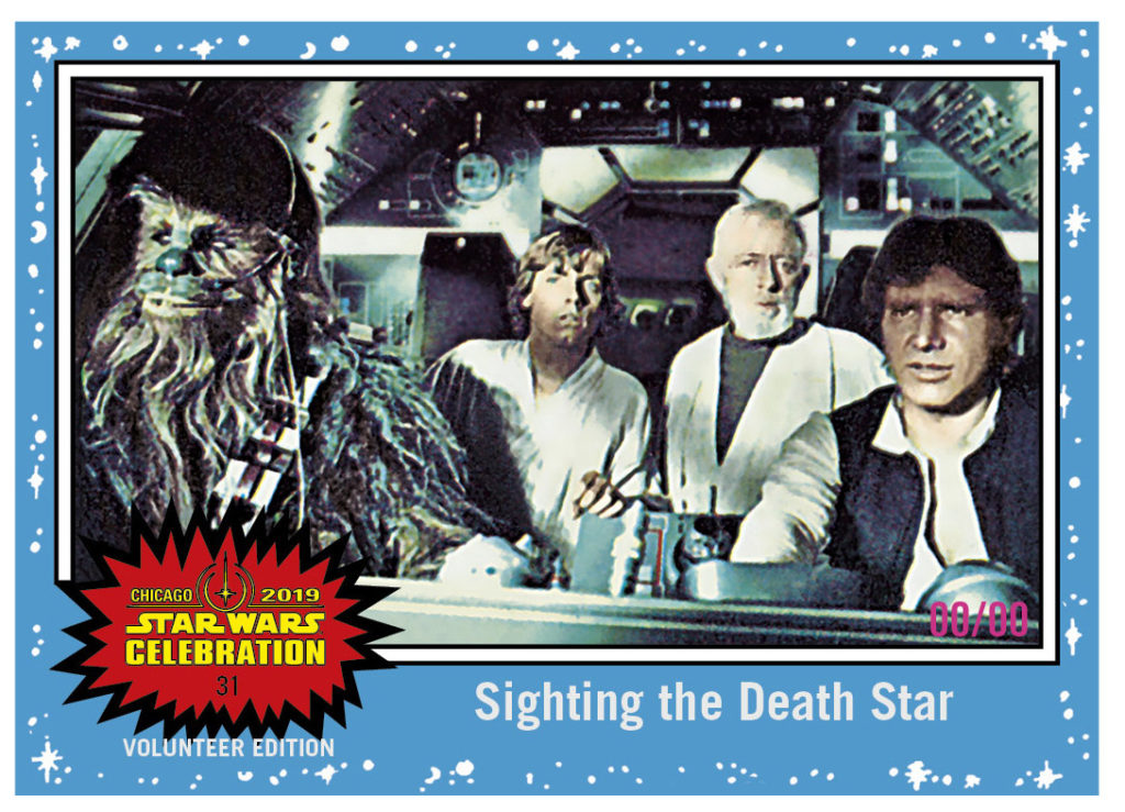 Topps Star Wars Celebration Chicago exclusive card.