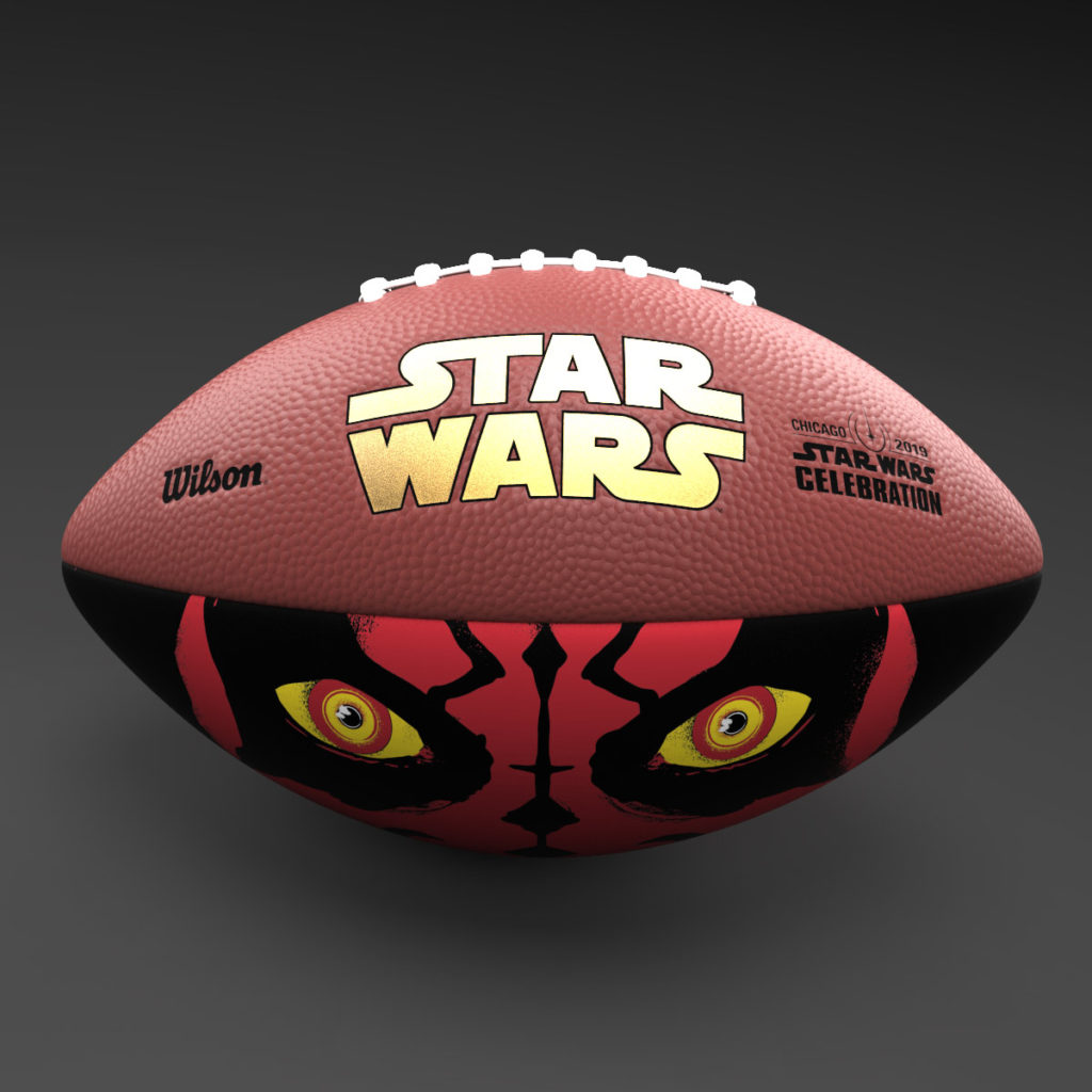Wilson Darth Maul football - Star Wars Celebration Chicago exclusive