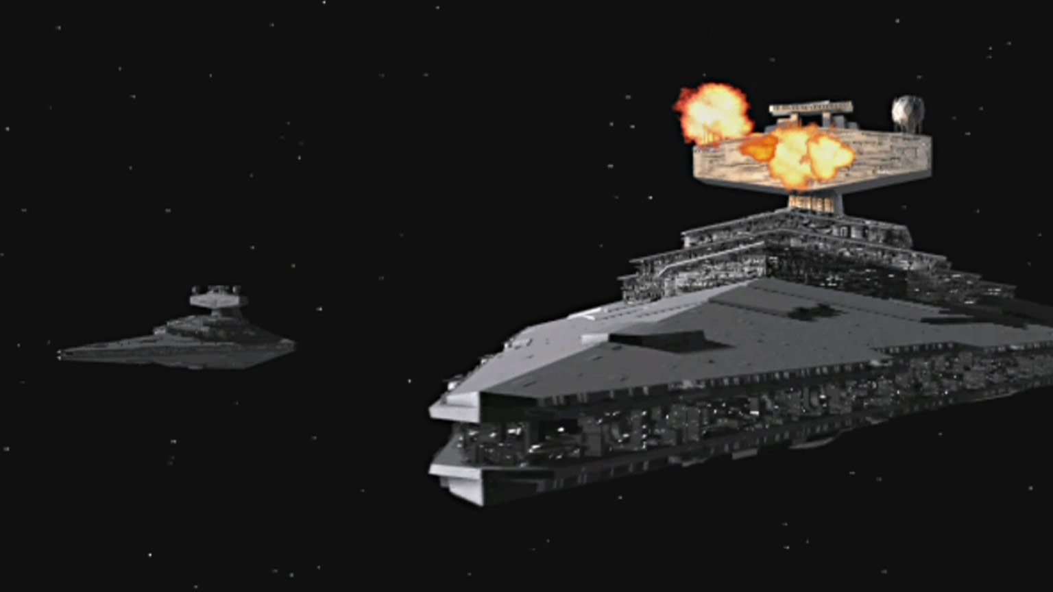 Star Destroyers in Star Wars: X-Wing Alliance.
