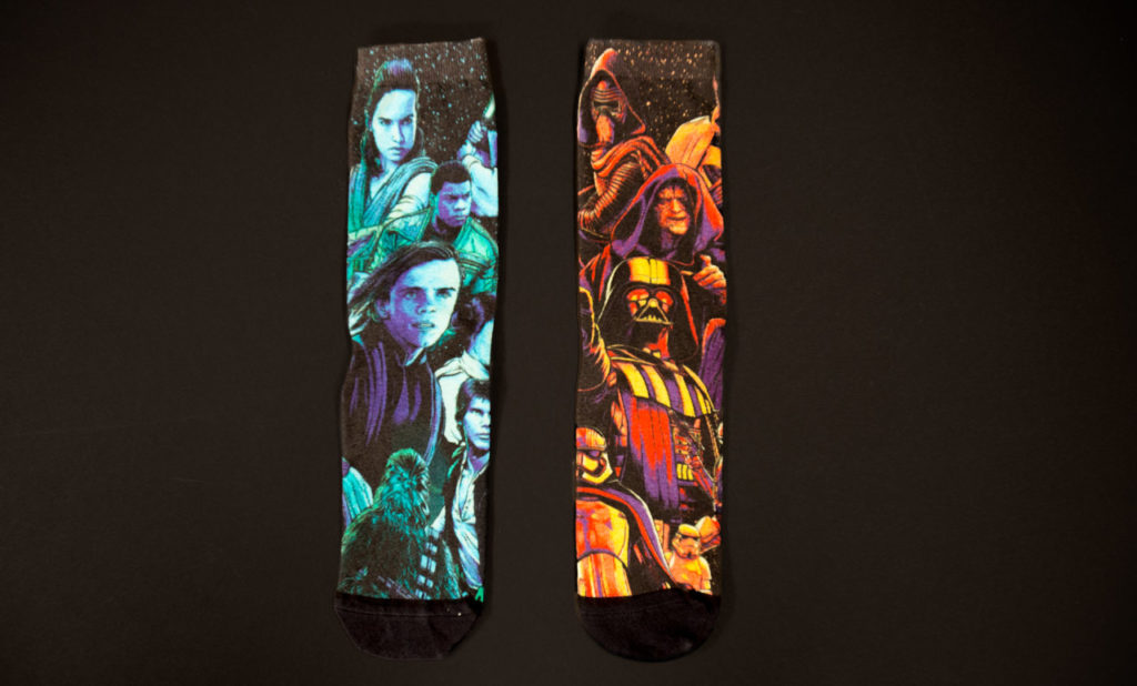 Star Wars Celebration Chicago exclusive socks - light and dark side