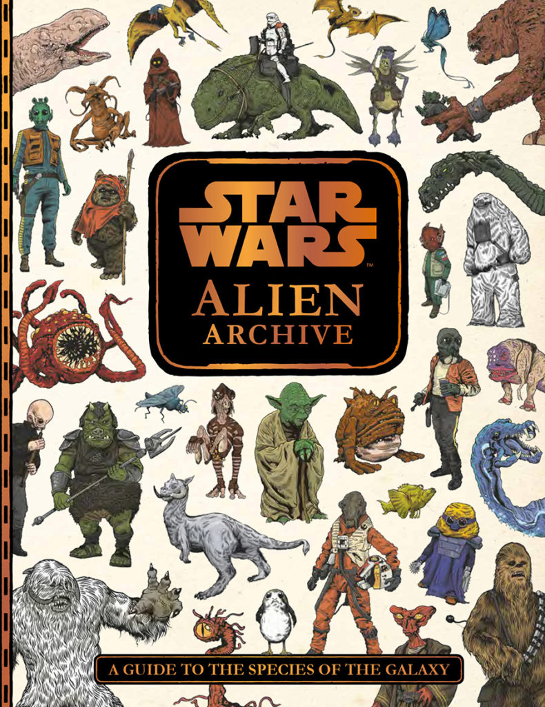 The cover of the new book Star Wars: Alien Archive.