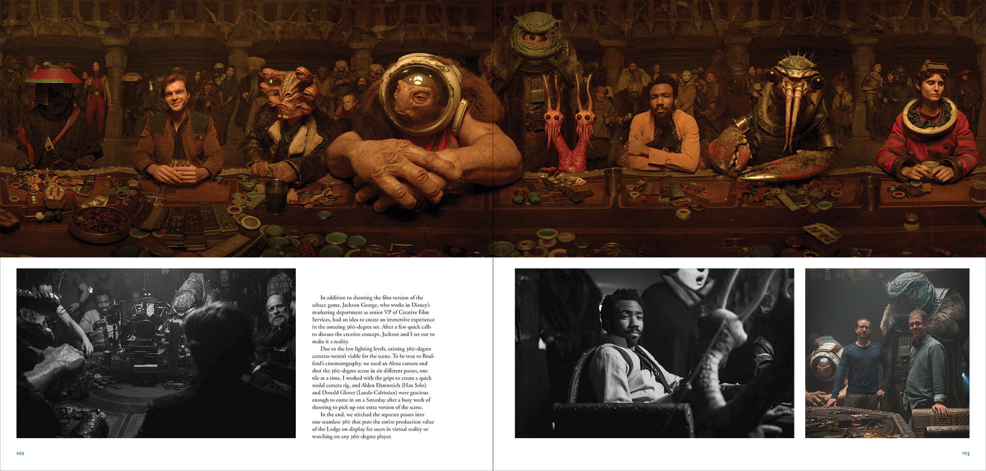A spread from the new Making of Solo: A Star Wars Story book out now.