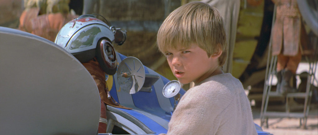 Anakin Skywalker in Star Wars: The Phantom Menace.