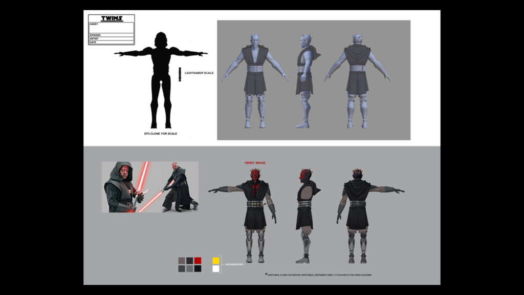 Maul concept art from Star Wars: The Clone Wars.