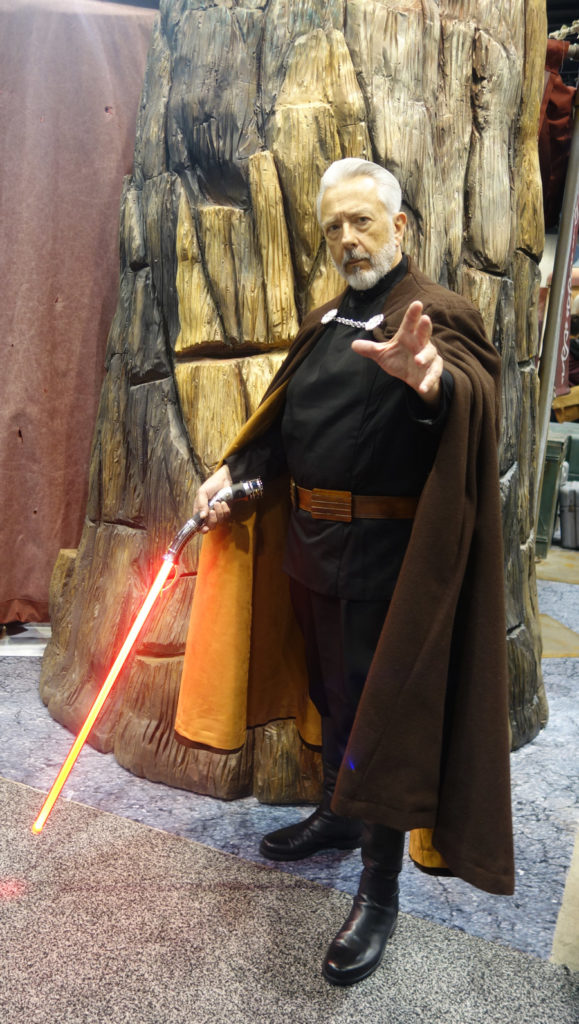 A fan cosplaying as Count Dooku