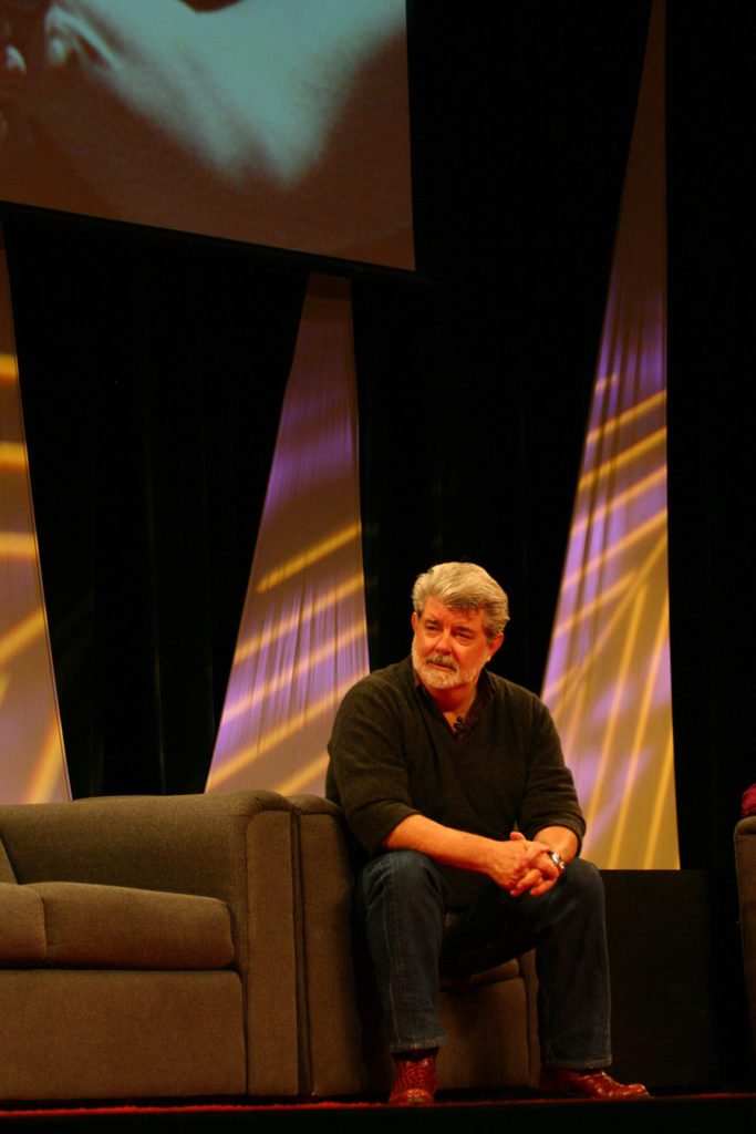 George Lucas at Star Wars Celebration III.