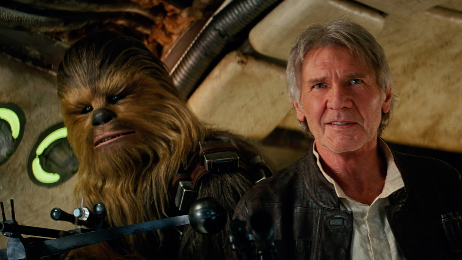 Han and Chewie in The Force Awakens.