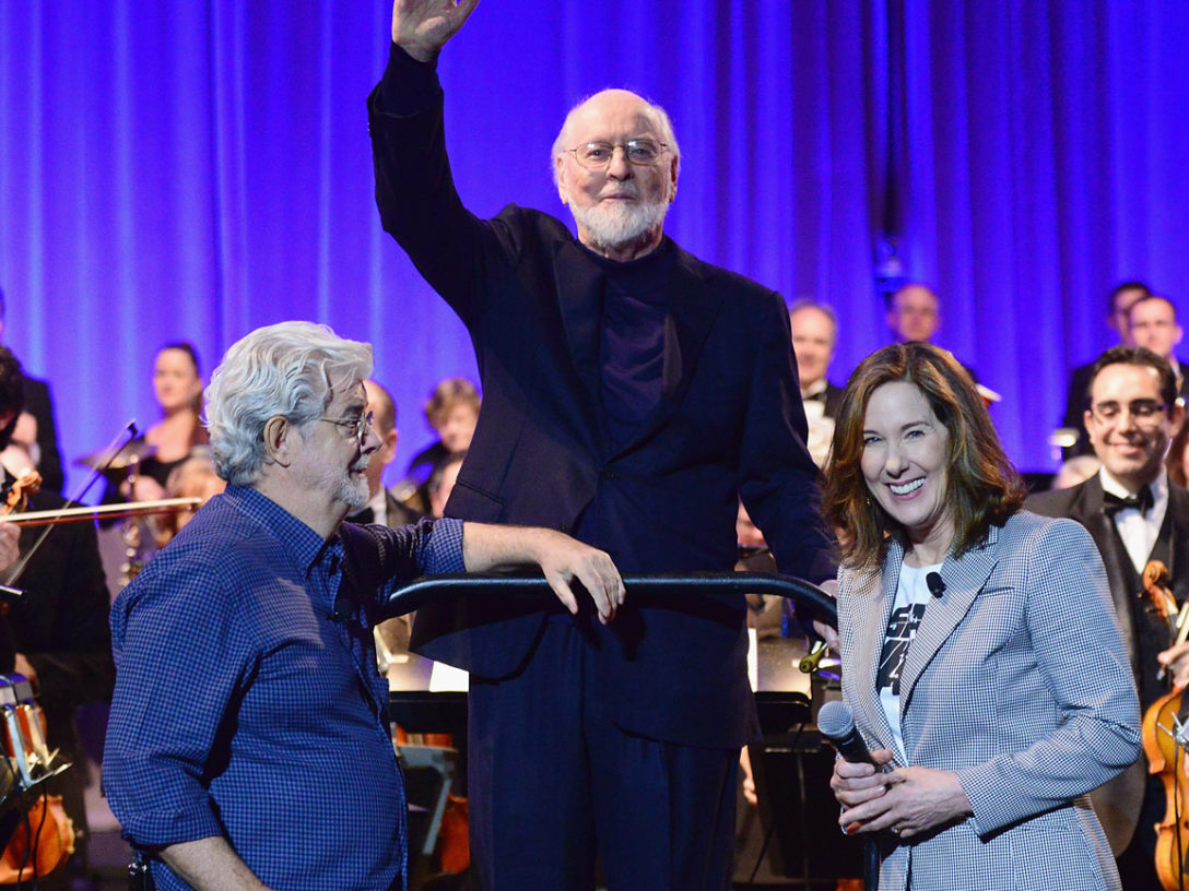 George Lucas, John Williams, and Kathleen Kennedy at Star Wars Celebration Orlando.