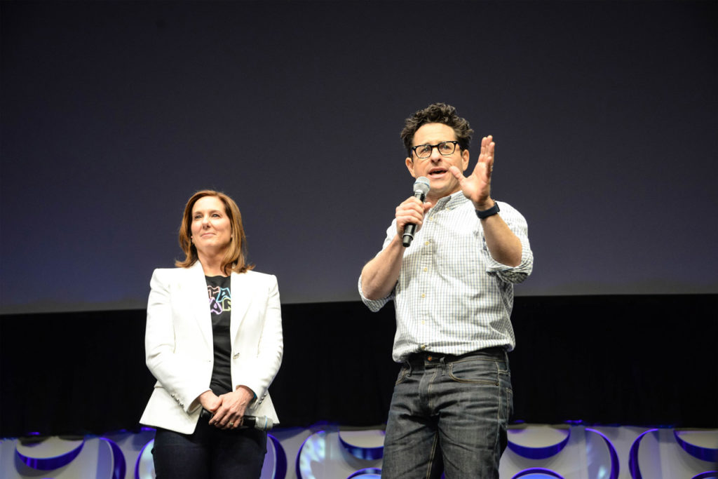 Kathleen Kennedy and J.J. Abrams at Star Wars Celebration Anaheim.