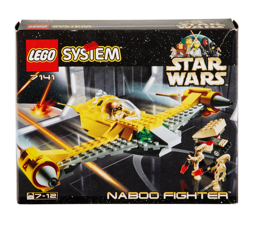 LEGO Star Wars Naboo Fighter from 1999.