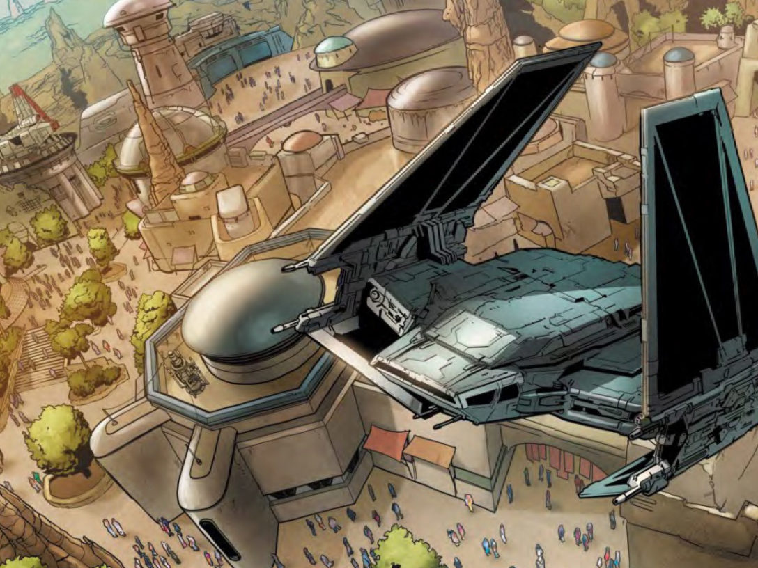 "Black Spire Outpost, as depicted in ""Star Wars: Galaxy's Edge"" #1"
