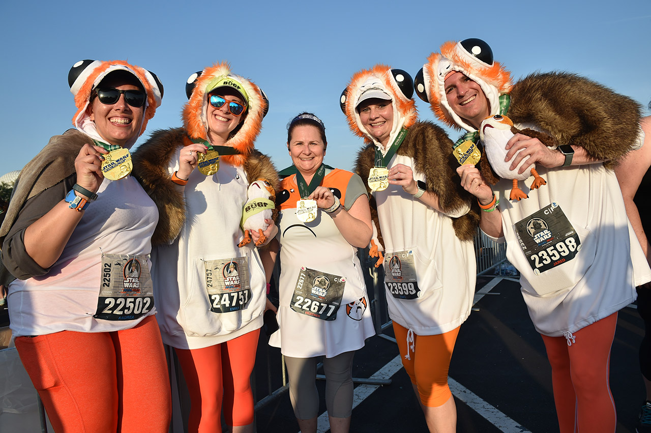 Runners took part in the runDisney Star Wars Rival Run Weekend.